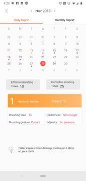 Oclean aplikace kalendar