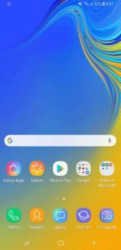 Samsung Galaxy A9 domovska obrazovka