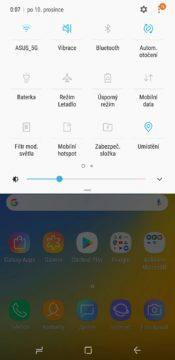 Samsung Galaxy A9 notifikace