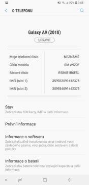 Samsung Galaxy A9 o telefonu