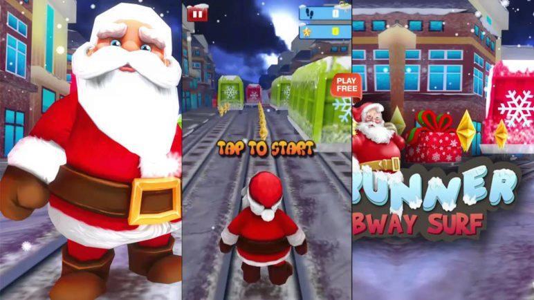 Santa Runner :Xmas Subway Surfer - Android Gameplay HD