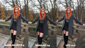 Srovnání fotoaparátů Samsung Galaxy A9 vs Samsung Galaxy Note 9 vs HTC U12+ modelka