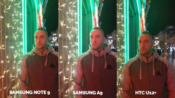 Srovnání fotoaparátů Samsung Galaxy A9 vs Samsung Galaxy Note 9 vs HTC U12+ nocni portret