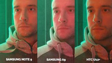 Srovnání fotoaparátů Samsung Galaxy A9 vs Samsung Galaxy Note 9 vs HTC U12+ nocni portret detail