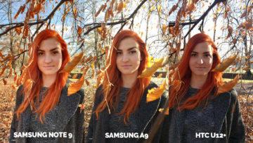 Srovnání fotoaparátů Samsung Galaxy A9 vs Samsung Galaxy Note 9 vs HTC U12+ portret