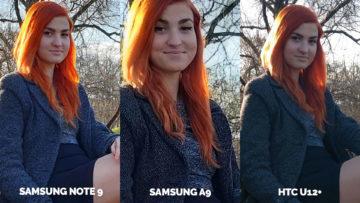 Srovnání fotoaparátů Samsung Galaxy A9 vs Samsung Galaxy Note 9 vs HTC U12+ protisvetlo detail