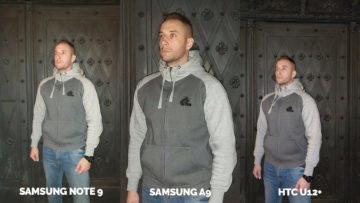 Srovnání fotoaparátů Samsung Galaxy A9 vs Samsung Galaxy Note 9 vs HTC U12+ test blesku