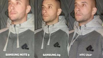 Srovnání fotoaparátů Samsung Galaxy A9 vs Samsung Galaxy Note 9 vs HTC U12+ test blesku detail