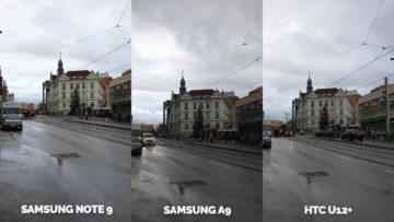 Srovnání fotoaparátů Samsung Galaxy A9 vs Samsung Galaxy Note 9 vs HTC U12+ ulice