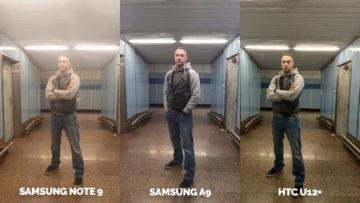 Srovnání fotoaparátů Samsung Galaxy A9 vs Samsung Galaxy Note 9 vs HTC U12+ umele osvetleni
