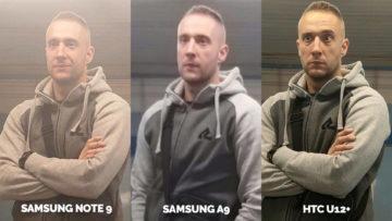 Srovnání fotoaparátů Samsung Galaxy A9 vs Samsung Galaxy Note 9 vs HTC U12+ umele osvetleni detail