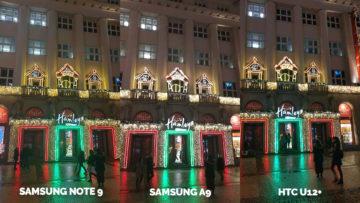 Srovnání fotoaparátů Samsung Galaxy A9 vs Samsung Galaxy Note 9 vs HTC U12+ vanocni ozdoby noc