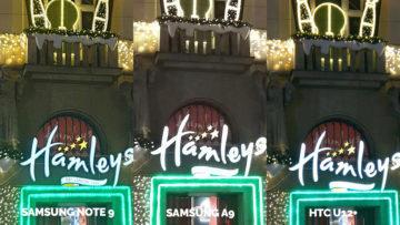 Srovnání fotoaparátů Samsung Galaxy A9 vs Samsung Galaxy Note 9 vs HTC U12+ vanocni ozdoby noc detail
