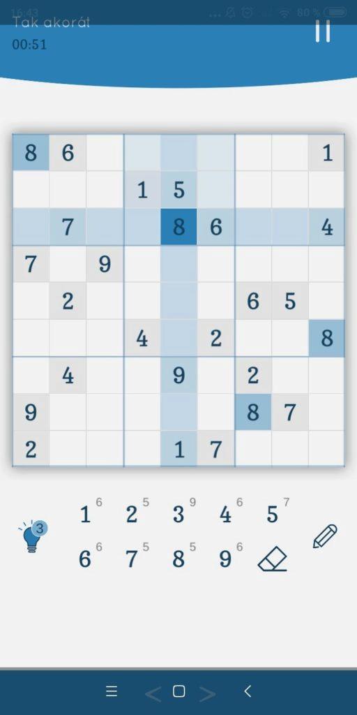 Sudoku Zenkai – hrací pole