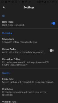 Tmavý režim aplikace
