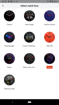 Xiaomi Amazfit aplikace ciferniky