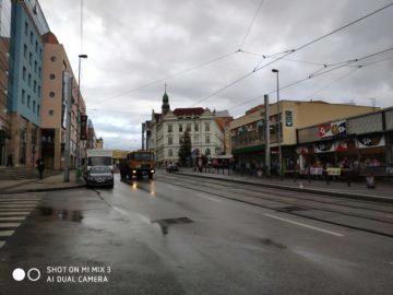 Xiaomi Mi Mix 3 fotografie destiva ulice