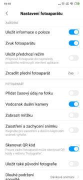 Xiaomi mi mix 3 nastaveni fotoaparatu