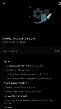 android 9 pie aktualizace oneplus 5 oneplus 5t
