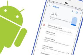 android 9 pie baterie upozorneni sporic