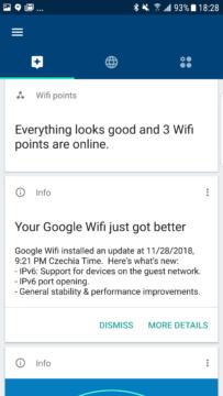 aplikace Google Wi-Fi informacni servis