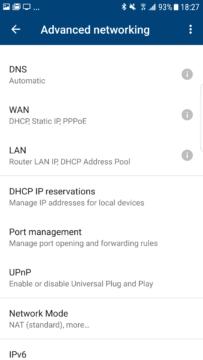 aplikace Google Wi-Fi pokrocile nastaveni