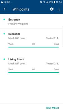 aplikace Google Wi-Fi seznam routeru