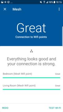 aplikace Google Wi-Fi vysledky testovani