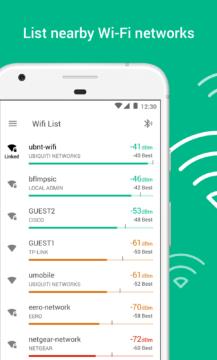 Aplikace vypíše okolní Wi-Fi sítě