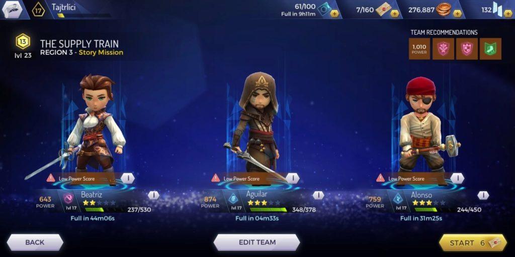 Assassins Creed Rebellion - doplnění zdraví