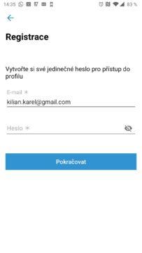 E-mail a heslo