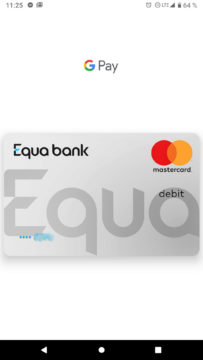 Equa bank Google pay platebni karta