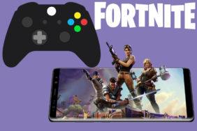 fortnite podpora gamepad telefony android ios