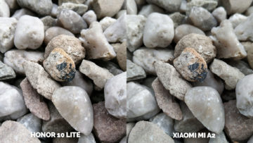 fototest Xiaomi Mi A2 vs Honor 10 Lite kameny makro