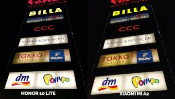 fototest Xiaomi Mi A2 vs Honor 10 Lite nocni fotografie