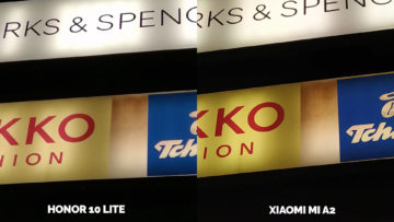 fototest Xiaomi Mi A2 vs Honor 10 Lite nocni fotografie detail