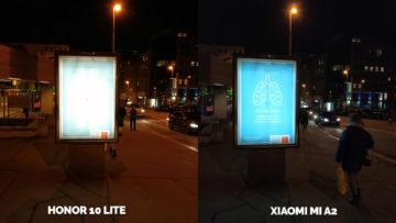 fototest Xiaomi Mi A2 vs Honor 10 Lite nocni fotografie ulice