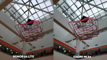 fototest Xiaomi Mi A2 vs Honor 10 Lite objekt strop