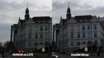 fototest Xiaomi Mi A2 vs Honor 10 Lite ulice denni svetlo detail