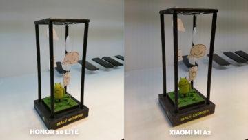 fototest Xiaomi Mi A2 vs Honor 10 Lite umele osvetleni android
