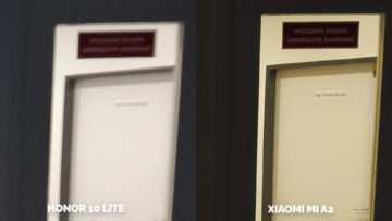 fototest Xiaomi Mi A2 vs Honor 10 Lite umele osvetleni detail