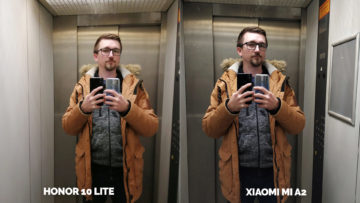 fototest Xiaomi Mi A2 vs Honor 10 Lite vytah selfie