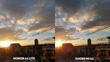 fototest Xiaomi Mi A2 vs Honor 10 Lite zapad slunce