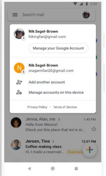 gmail redesign android