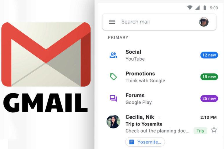 google gmail redesign