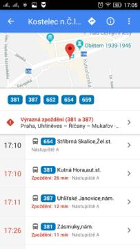google mapy dopravni info