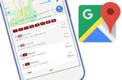 google mapy dopravni info jizdni rady zpozdeni