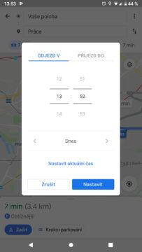 Google mapy odjezd