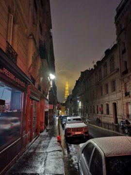 Honor View 20 fotografie nocni ulice pariz