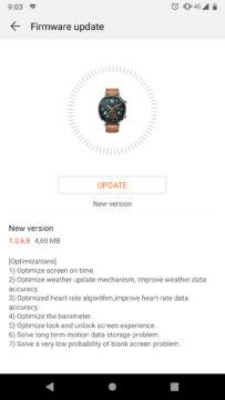 huawei watch gt aktualizace hodinek 2019